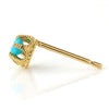Turquoise earrings in 18k gold -Fleula-