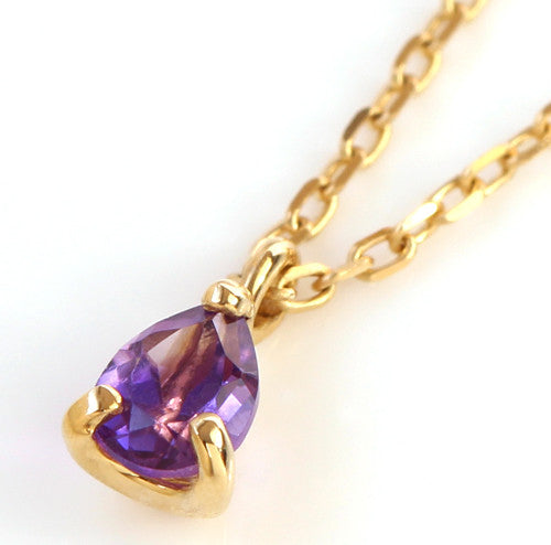 Amethyst necklace in 18k gold -Poele-