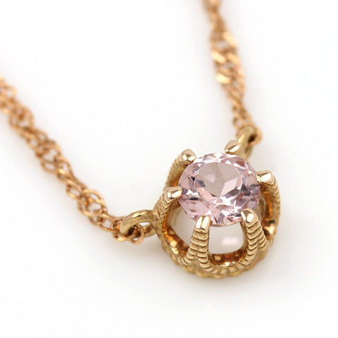 Champagne Garnet necklace in 18k gold -Fleula-
