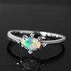 Opal ring in 18k gold with diamonds -Brigitte-