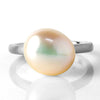 Pearl ring in 18k gold -Selleria-