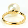 Pearl ring (white) in 18k gold with diamonds -Gran-