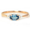 Santa Marine Aquamarine ring in 18k gold with diamonds -Flavie-