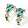 Pave Earrings in 18k gold -Ocean Blue-