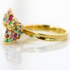 Ribbon Pave Ring in 18k gold -Ruban-