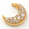 Pave Necklace top in 18k gold -Lumiere Lunar bouquet-