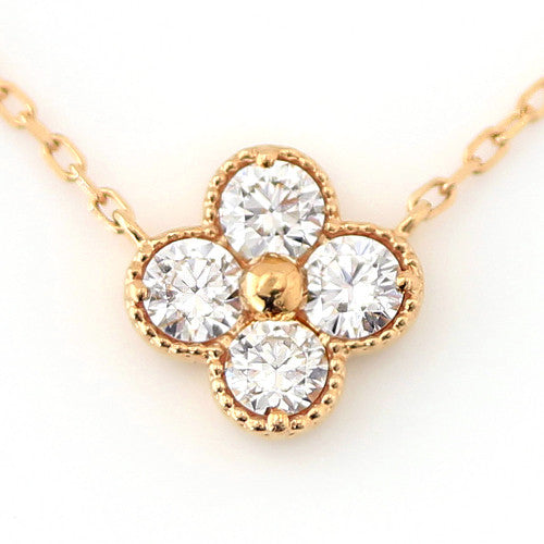 Diamond necklace in 18k gold -Anais-