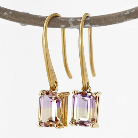 Ametrine earrings in 18k gold -Serum-