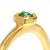 Emerald ring in 18k gold -Anne-