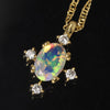 Opal necklace in 18k gold -Brigitta-
