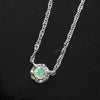 Opal necklace in 18k gold -Fleula-