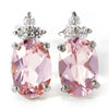 Morganite Earring in 18k gold -Flavie-