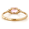 Morganite ring in 18k gold -Flavie-
