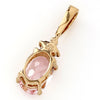 Morganite Necklace in 18k gold -Flavie-