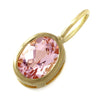 Morganite necklace top in 18k gold -Selena-