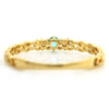 Paraiba Tourmaline ring in 18k gold with diamonds -Josette-