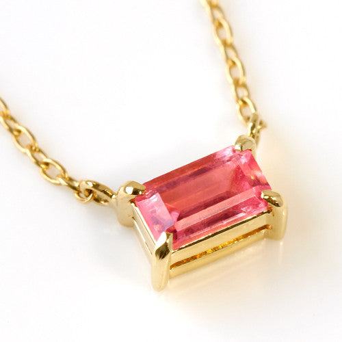 Rhodochrosite necklace in 18k gold -Felicie-