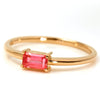 Rhodochrosite ring in 18k gold -Felicie-