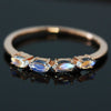 Blue Moonstone ring in 18k gold -Tout droit-