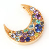 Pave Necklace top in 18k gold -Lunar bouquet-