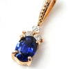 Cornflower Blue Sapphire necklace top in 18k gold -Flavie-