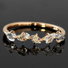 Herkimer Quartz rings in 18k gold -Quintet-
