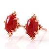 Red Coral ring in 18k gold -Victoire-
