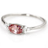 Champagne Garnet ring in 18k gold -Flavie-