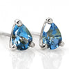 Santa Marine Aquamarine earrings in 18k gold -Poele-