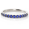 Cornflower Blue Sapphire ring in 18k gold -Emma-