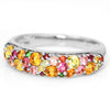 Pave Ring in 10k gold - Mimosa bouquet-