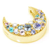 Pave Necklace top in 18k gold -Snow bouquet-