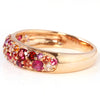 Pave Ring in 10k gold - Rose bouquet-