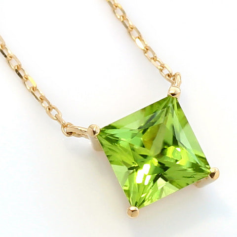 Peridot necklace in 18k gold -Serum-