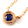 Cornflower Blue Sapphire necklace in 18k gold -Anne-