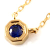 Cornflower Blue Sapphire ring in 18k gold -Anne-