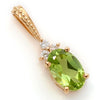 Peridot necklace in 18k gold -Flavie-