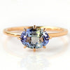 Tanzanite ring in 18k gold -Cepage-