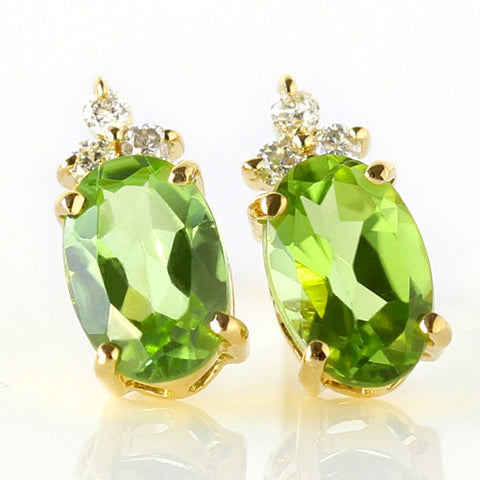 Peridot earrings in 18k gold -Flavie-