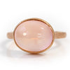 Rose Quartz ring in 18k gold - Selena-