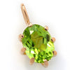 Peridot necklace in 18k gold -Cepage-