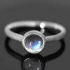 Blue moonstone ring in 18k gold -pointe-