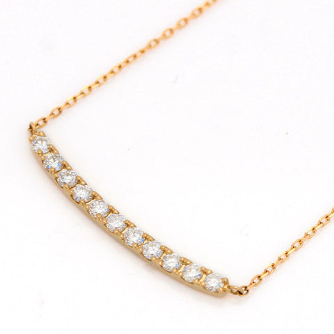 Diamond necklace in 18k gold -Emma-