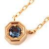 Color Change Garnet necklace in 18k gold -Anne-