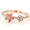 Rhodochrosite ring in 18k gold -Bloom-