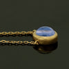 Blue moonstone necklace in 18k gold -Pointe-