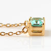 Mint Green Beryl necklace in 18k gold -Felicie-