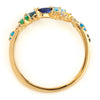 Coffret Ring in 18k gold -Ocean Blue-