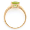 Peridot ring in 18k gold -Serum-