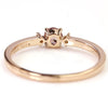 Champagne Garnet ring in 18k gold with diamonds -Lucile-